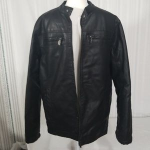 Mens ministry of fashion faux leather jacket